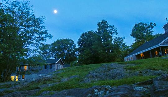 Camp Kieve at dusk