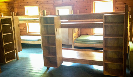 cabin-interior-camp-kieve-great-mother-new-father-conference